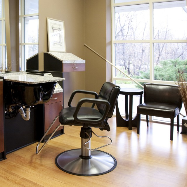 salons etc interior booth with window